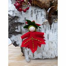 Blumenkind Weihnachtsstern Jahreszeitentisch Winter Baumschmuck Weihnachten
