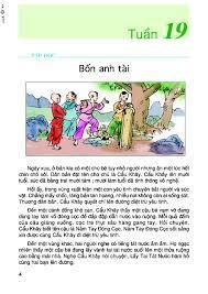 Tập đọc Bốn anh tài - Tiếng Việt 4 - Tập hai - Tìm đáp án, giải bài