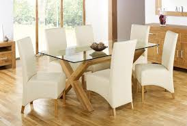charming dining room sets glass top table for 6 chairs