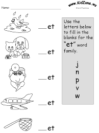 Worksheet for (very) young learners who have just started reading. Word Family Phonics Worksheets
