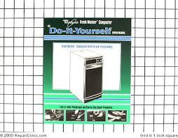 kenmore trash compactor. whirlpool trash masher compactor repair manual 680208 kenmore 1
