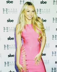Corinne Olympios Bares Her Underwear in Racy Hot Pink Dress