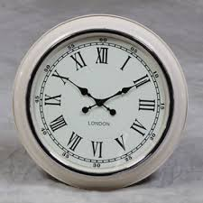 large london wall clock cream with