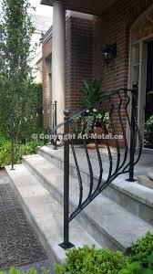 exterior handrail. exterior railings (#17) handrail