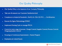 company profile ansen electronics company of 5s kaizen systems strong management vertically integrated production facilities professional personnel and well established quality systems