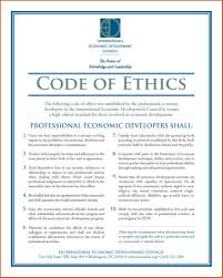 Code Of Conduct Example code of conduct examples sop example 1