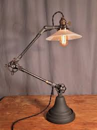 vintage industrial lighting. Vintage Industrial Style Desk Lamp - Thumbnail 4 Lighting H
