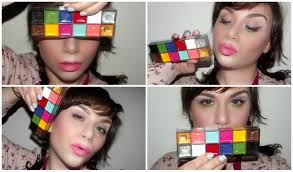 one brand make up tutorial review mufe flash palette dupe color block make up