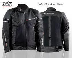 jaket motor touring bikers adn argon baru hitam
