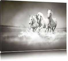 white horses running in the water canvas l huge pictures completely framed with stretcher art print on wall picture with frame er than oil
