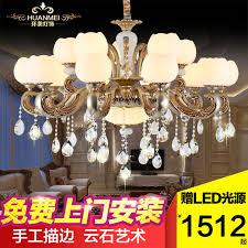 get ations european crystal lamp chandelier lamp living room dining zinc alloy bedroom american marble atmosphere bedroom lighting