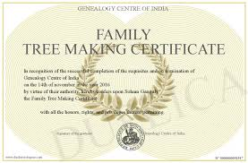 Making A Certificate Family Tree Making Certificate