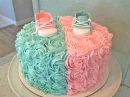 Cake For Twins A Christening Baby Shower Ideas Pandamedia