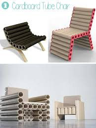 cardboard tube furniture. you can make simple chairs out of pile tubes a wooden plastic or cardboard tube furniture t