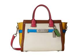 pale blue glovetanned leather coach swagger shoulder bag