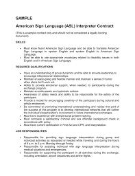 Interpreter Job Description Sample Asl Interpreter Contract