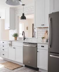 kitchen design white cabinets white appliances. This Kitchen Is Also White And Matches The Light Fixtures, Faucet,  Cabinetry Handles Design Cabinets Appliances