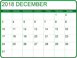 December Calendar Excel Fresh 35 Illustration December 2018 Calendar Excel