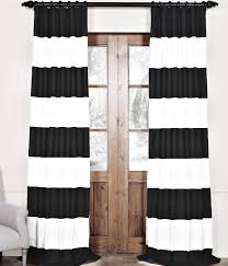 Exellent Black And White Curtains Horizontal Striped Design Inspiration