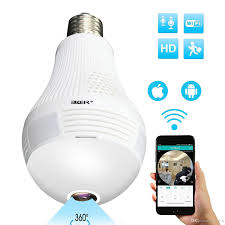 Best Light Bulb Camera Wireless Security Camera Bulb Led Light Bulb Camera Panoramic Ip Camera With 360 Degree Fisheye Lens Timing Function Home Security Syste Best Alarm