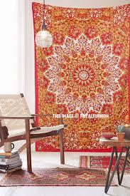 red twin indian star print hippie dorm decor tapestry wall hanging art royalfurnish com