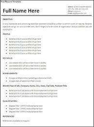 Basic Resume Template Free Beautiful Simple Job Resume Template