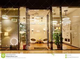 Show Window Lighting Luxury Led Lighting Shop Window Stock Photo Image Of
