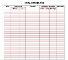 Printable Mileage Log Templates Free Template Lab Intended