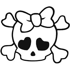 Girl skull and crossbone
