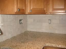 imposing amazing off white backsplash tile warm kitchen themed feat wooden kitchen cabinets design feat white