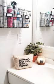 cool college bathroom ideas. try this: wire basket storage easy bathroom organization from michaelsmakers the clueless girl cool college ideas a