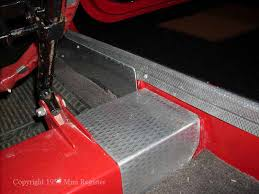 austin de luxe have alloy plates on the inner sill at the front morris cars are carpeted in this area