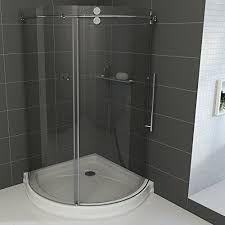 32 inch corner shower stall. frameless round sliding shower enclosure with .3125-in. clear glass and stainless steel hardware (right-sided door) (shower base included) 32 inch corner stall s