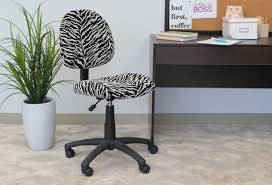 perfect posture chair. Boss Perfect Posture Deluxe Modern Microfiber Home Office Chair Without Arms, Zebra R