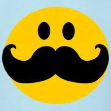 funny mustache smiley face cartoon men s t shirt
