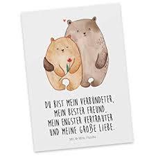 Amazonde Mr Mrs Panda Einladung Karte Postkarte Bären Liebe