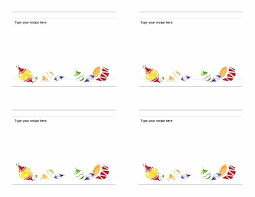 Perfect Cookbook Templates Recipe Book Cards Writing