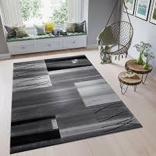 Livingroom Rug With Modern Design And Hand Carved Contours Mottle Grey Black F9088