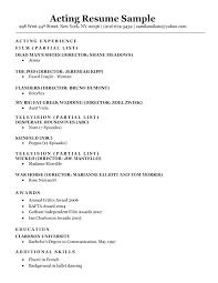 beginner acting resume sample beginner resume template emelcotest com