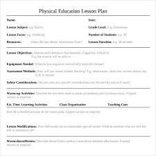 sample physical education lesson plan template sample blank lesson plan physical education blank calendars 2017