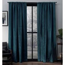 Teal Patterned Curtains Delectable Teal Patterned Curtains Wayfair