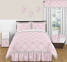 pink and gray alexa erfly 3pc full queen girls bedding set by sweet jojo designs