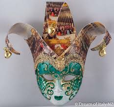 Miniature Masquerade Masks Decorations Venetian Jollino Green Miniature Masquerade Mask mini mask 9