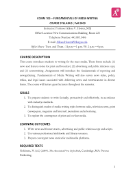 How To Write A Syllabus Media Writing Syllabus