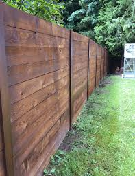 how to build a horizontal fence it s