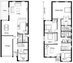 ideas about Narrow House Plans on Pinterest   Small House     storey house plans for narrow blocks   Google Search SWAP DOWNSTAIRS AND UPSTAIRS