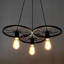 edison bulb lighting fixtures. BAYCHEER Loft Stair Style Wheel Pendant Lights Hanging Vintage Lamp Black Iron E27 Edison Bulbs Indoor Home Lighting Fixtures Bulb