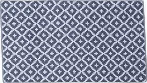 framsohn bath rug diamond pattern anthracite 67x120cm