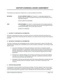 New Non Disclosure Confidentiality Agreement Free Template Nice