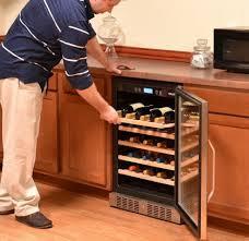 built in dual zone wine cooler. Modren Wine Titan 46 Bottle Dual Zone Wine Refrigerator With Built In Cooler C